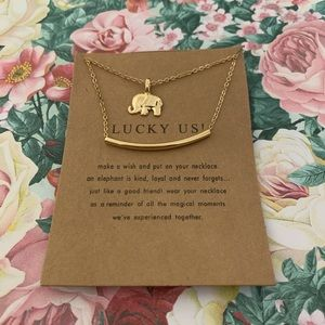 Lucky us double layer necklace